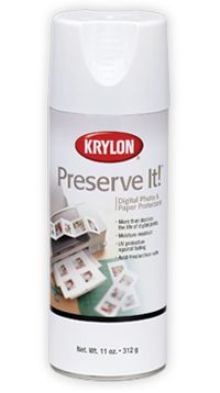 Preserve It! sealant suggested by Krylon for quilling items.