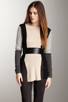 Robert Rodriguez Colorblock Pullover Sweater on HauteLook Fashion Now, Fashion Beauty, Fashion Looks, Fashion Outfits, Womens Fashion, Fashion Ideas, Fashion Design, Fashion Trends, Colour Blocking Fashion