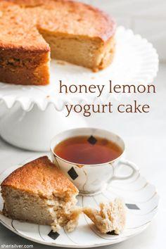 sugar free: honey lemon yogurt cake | Sheri Silver - living a well-tended life... at any age Sugar Free Honey, Lemon Olive Oil Cake, Lemon Yogurt Cake, Honey Lemon, Baking Tips, Cake Pans, Cravings, Sweet Treats, Yummy Food