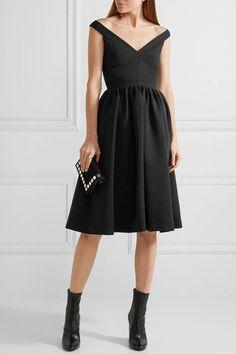 Preen by Thornton Bregazzi - Ted Off-the-shoulder Stretch-crepe Dress - Black - medium