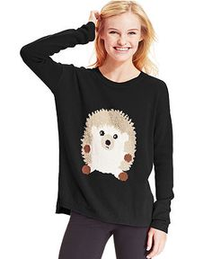 Eric + Lani Juniors Sweater, Long Sleeve Graphic - Juniors Sweaters - Macy's