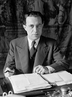 Jacques Jaujart (1895-1967), 1940, curator of the Musée du Louvre, Paris. He planned the evacuation of art works from the Louvre before the arrival of Nazis in Paris. Discreet hero who saved the art works of the National Museums in France.