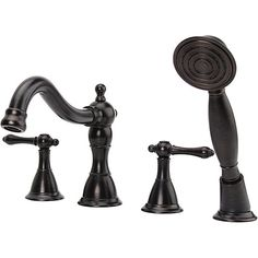 Fontaine Bellver Oil Rubbed Bronze Roman Tub Faucet with Handheld Shower
