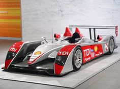Audi R10 TDI Le Mans Prototype racer.  Won the 24 Hours of Le Mans three times.