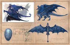 Scandavian Blue Dragon by wocstudios on DeviantArt