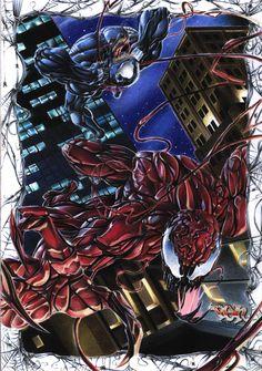 Carnage vs Venom by ~FallenAngel-pen on deviantART