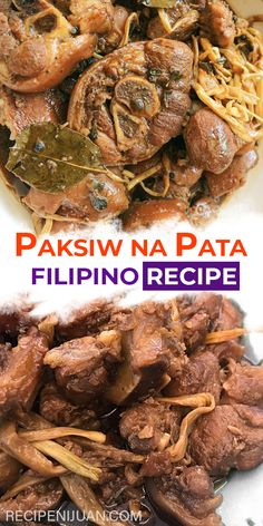 This Paksiw na Pata Recipe is a sweet sour and salty dish made from pork leg In the Philippines you can prepare this by buying freshly-butchered pork leg from the wet market Pork Recipes, Gourmet Recipes, Dog Food Recipes, Cooking Recipes, Healthy Recipes, Vegetarian Recipes, Breakfast And Brunch, Breakfast Recipes, Filipino Dishes