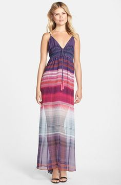 Charlie Jade Stripe Chiffon Maxi Dress available at #Nordstrom