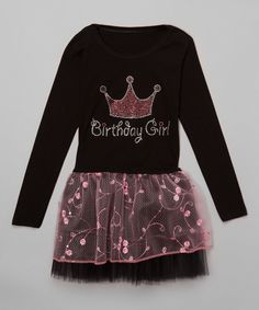 Loving this Beary Basics Black & Pink Crown Tutu Dress - Infant, Toddler & Girls on #zulily! #zulilyfinds