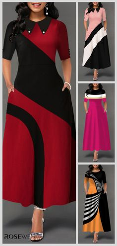 African Dresses For Women, African Fashion Dresses, Trendy Dresses, Elegant Dresses, Beautiful Dress Designs, Dress Outfits, Fashion Outfits, Designs For Dresses, Maxi Dress With Sleeves