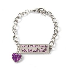 """Is One Direction your valentine? Rock this """"What Makes You Beautiful"""" Heart Charm Bracelet for Valentine's Day"""