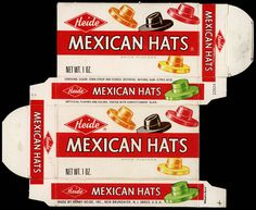 Heide - Mexican Hats candy box - 1975