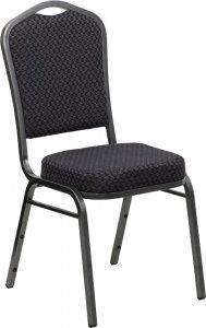 Flash Furniture HERCULES Series Crown Back Stacking Banquet Chair (HF-C01) SKU: HF-C01 500 lb. Capacity HERCULES Chair Multi-Purpose Stacking Banquet Chair Crown Back Design 1.8 Density 2.5'' Thick Seat Cushion CA117 Fire Retardant Foam 16 Gauge Steel Frame Double Support Bracing Plastic Bumper Guards Non-Marring Plastic Floor Glides Ships Fully Assembled Limited Lifetime Warranty on Frame Availability: 3 Color(s) Available Pricing: $69.99