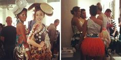 more awesome dresses from the #trashion #fashion show!