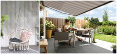 Puur genieten! | Foto links: Karwei. Foto rechts: buitenzonwering van Luxaflex®.
