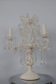 this antique white three branch chandelier table lamp is a gorgeous chandelier table lamp with antique