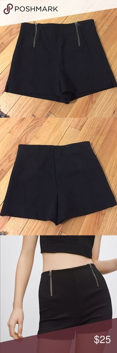 Aritzia high waist zip shorts Cute and comfy aritzia shorts by Sunday best! Never worn, in perfect condition! Aritzia Shorts