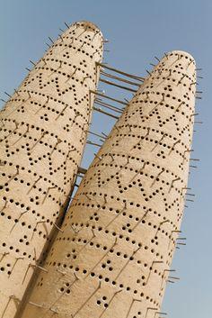 Katara | Pigeon Towers. view on FB https://www.facebook.com/SinbadsQatarPocketGuide  photo: Xavier Bouchevreau