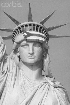 ☀Puerto Rico☀Puerto Rican Flag On Statue Of Liberty - mom is also Puerto Rican! And New York born! #RetailMeNotMom