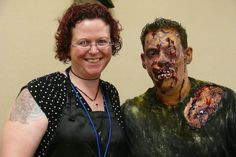 """Monster"" Midian Crosby and her winning zombie from the 2012 Denver StarFest/HorrorFest ""FaceOff"" style Makeup Challenge!"