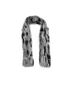 """Trendi"" Real Fur Scarf Rex Rabbit F742 #scarf #fur_scarf #rexrabbit #fashion #outfit #tying #luxury"