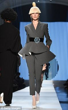 Kooky: The show was typically quirky, with models playfully posing in an array of brightly...