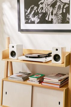 EP-33 Wireless Turntable With Speakers - White
