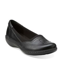 Ashland Hustle in Black Leather - Womens Shoes from Clarks
