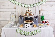 Soccer HAPPY BIRTHDAY Banner Party by getthepartystarted on Etsy