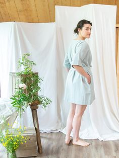Sustainably-made clothing, made of 100% recycled cotton and ethically sewn in Guatemala. Sold exclusively at Lady Farmer. Made Clothing, Recycled Denim, Everyday Dresses, Slow Fashion, Farmer, Pregnancy, Lose Weight, White Dress, Blue And White