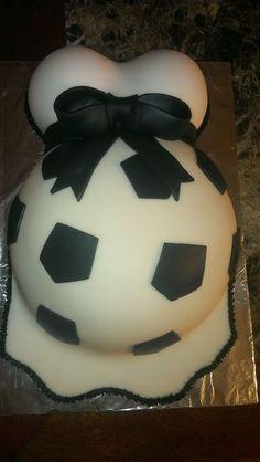 Soccer ball baby belly