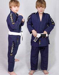 Vulkan Ultra Light Gi Kids Jiu Jitsu Navy Blue