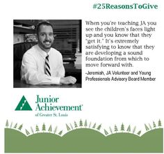 Reason #8: Give #kids a great foundation to build their #future #careers. http://www.fundJA.org/  #25ReasonsToGive #supportJA