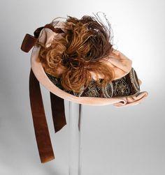 1890 Lady's Bonnet Culture: French Medium: silk velvet, feathers