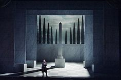 Lucia Di Lammermoor. San Francisco Opera. Set and projections by Erhard Rom. Lighting by Gary Marder.
