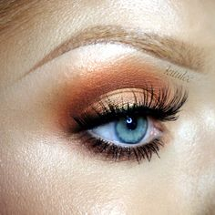 """""""Orange Trend"""" by Kitulec using the Makeup Geek eyeshadows Chickadee, Cocoa Bear, Corrupt, Mango Tango, and Peach Smoothie."""