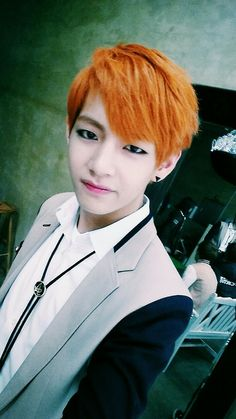Bright. Orange. Hair.... yikes xD