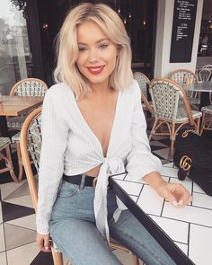 "Laura Jade Stone on Instagram: ""Waiting for my food like Wearing @sundaemuse ✨✨"""