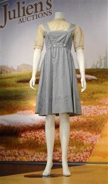 "Judy Garland's blue and white gingham dress from ""The Wizard of Oz"" sold for $480,0000 at a Beverly Hills auction in November 2012 while a similar dress worn during tests for the movie fetched $910,000 in 2011.   The price difference is attributed to the fact that only a few test dresses were made for ""The Wizard of Oz,"" while there are about seven versions of Garland's signature gingham pinafore."