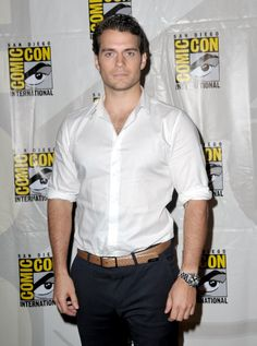 Henry Cavill in Man of Steel... CAN'T WAIT!!!! He makes such a great Clark Kent!