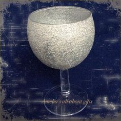 Glittered small wine glass Wine Glass, Glasses, Tableware, Glitter, Life, Eyewear, Eyeglasses, Dinnerware, Dishes