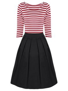 SHARE & Get it FREE | Vintage Striped A Line DressFor Fashion Lovers only:80,000+ Items • New Arrivals Daily • Affordable Casual to Chic for Every Occasion Join Sammydress: Get YOUR $50 NOW!