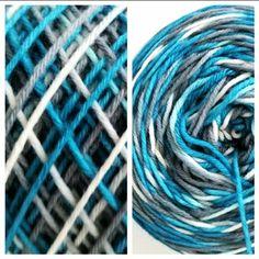 Handgefärbte Wolle die selber Muster bildet, Pooling Garden Hose, Lilac, Knitting And Crocheting, Tutorials, Colors, Patterns