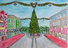 Christmas on Main Street Disneyland