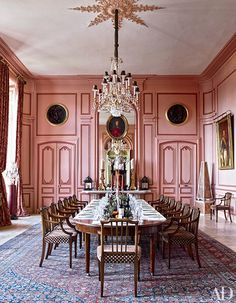 One of a kind, Dining by Timothy Corrigan Loire Valley France Chateau du Grand Luce Renovation | Architectural Digest