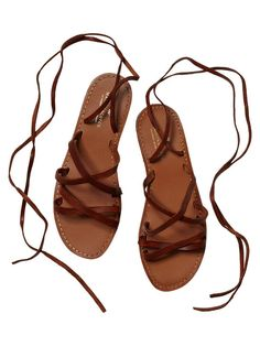 the perfect summer tie-up sandal