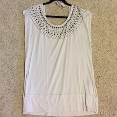 Rock n Republic Studded Tie Back Tee Rock n Republic Studded Tie Back Tee. Goes w EVERYTHING! Wish it fit me. Rock & Republic Tops Blouses