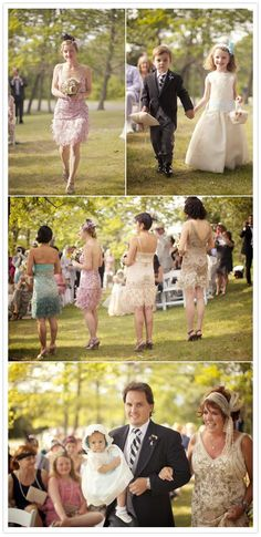 #1920's inspired #wedding... I love how the guests got into the theme too!