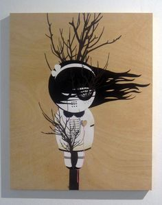 Muertos de Amor (Death by love) Acrilic on wood. 65x81cm. 2011.