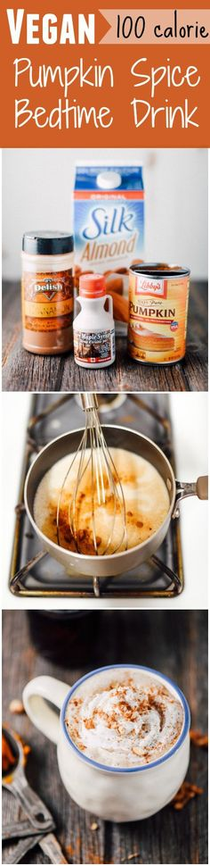 Vegan Pumpkin Spice Bedtime Drink- 100 calories and only 4 ingredients!